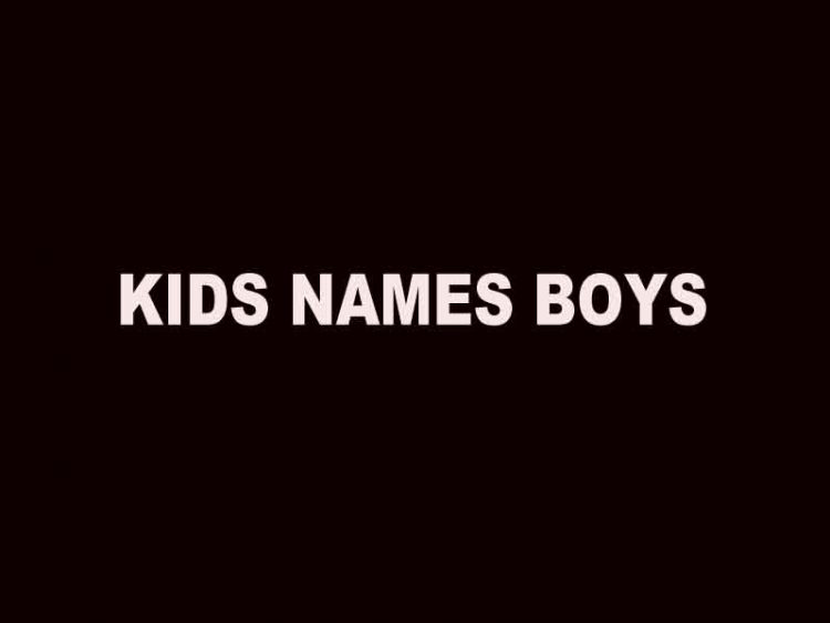 kids names boys
